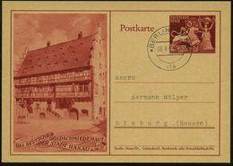 Hanau 1942 (8.8.) 6 Pf. + 4 Pf. Goldschmiedehaus + Ersttags-2K: * BERLIN * SW 68 * / V F S = V Ersandstelle Für Sammlerm - Géologie