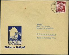PFORZHEIM/ *1v 1935 (2.4.) 1K-Brücke Auf Reklame-Bf.: GOLDSTADT/ PFORZHEIM/..Siebler U. Rothfuß (amtl. Logo: Torbogen M. - Geologie
