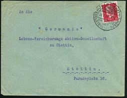 JDAR (NAHE)/ HAUPTSITZ/ DER/ EDELSTEIN-JNDUSTRIE 1929 (20.3.) HWSt = Strahlender Edelstein , Klar Gest. Inl.-Bf. (Bo.1)  - Géologie