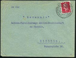 JDAR (NAHE)/ HAUPTSITZ/ DER/ EDELSTEIN-JNDUSTRIE 1929 (20.3.) HWSt = Strahlender Edelstein , Klar Gest. Inl.-Bf. (Bo.1)  - Geologie