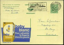 BELGIEN 1972 (23.5.) MWSt.: BRUSSEL -BRUXELLES/X/..DIAMANTS Congrès Mondial Anvers.. = Diamant (vor Stadtsilhouette) Bed - Geologie