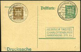 Bad Krozingen 1924 (31.5.) Seltener HWSt: THERMALBAD Krotzingen/Quellen/Kuraufenthalt , 2x Klar Auf Inl.-Kt. (Bo.1 , Nur - Vulkane