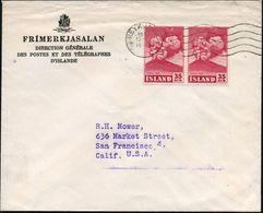 """ISLAND 1954 35 Aur. """"Ausbruch Vulkan HEKLA"""", Karmin, Reine MeF: Paar , Sauber Gest. Übersee-Bf. Versandstelle Für Sammle - Vulkane"""