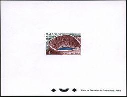 "MADAGASKAR 1962 30 F. ""Vulkansee Tritriva"",  U N G E Z.  Ministerblock (""Epreuve De Luxe"") Ungummiertes Kartonpapier + D - Vulkane"