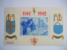 België Belgique 1942 Abdij Orval Abbaye D'Orval Dentelée Getand Opdruk Surchargée BL18 567A MNH ** - Blocks & Sheetlets 1924-1960