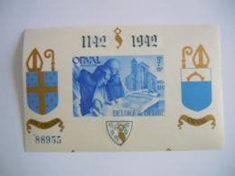 België Belgique 1942 Abdij Orval Abbaye D'Orval Non-dentelée Ongetand Opdruk Surchargée BL21 567B MNH ** - Blocs 1924-1960