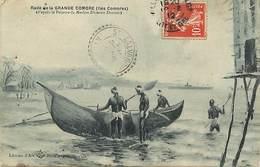 Pays Div -ref T632- Illustrateurs - Dessin Illustrateur Marine -dumont Duparc- Rade De La Grande Comore -iles Comores- - - Comoren