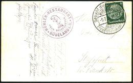 RÜBELAND/ (HARZ)/ Besucht Die Rübeländer/ Tropfsteinhöhlen! 1934 (9.7.) HWSt + Viol. 2K-HdN: HAUS-BRIEF-KASTEN/HÖHLEN-RE - Geologie