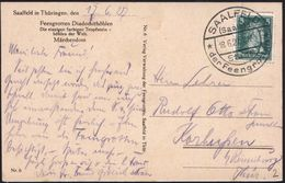 SAALFELD/ (Saale)1/ Stadt/ *der Feengrotten* 1927 (18.6.) HWSt Klar Auf. S/w.-Foto-Ak.: Feengrotten Diadochithöhle (Märc - Géologie