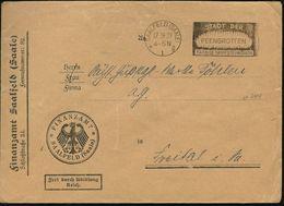 SAALFELD (SAALE)/ *1g/ STADT DER/ FEENGROTTEN/ FARBIGE TROPFSTEINHÖHLEN 1929 (17.9.) MWSt In Negativform = Tropfsteinhöh - Géologie