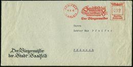 SAALFELD/ (SAALE) 1/ Die Steinerne Chronik Thüringens/ Die Stadt Der Feengrotten/ Der Bürgermeister 1942 (17.8.) AFS (St - Géologie