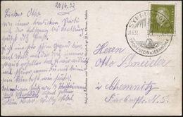 SYRAU (VOGTL)/ TROPFSTEIN U. SEENHÖHLE 1932 (26.6.) HWSt = Tropfsteinhöhle , Klar Gest. S/w.-Foto-Ak: Bleilochsperre (St - Geologie
