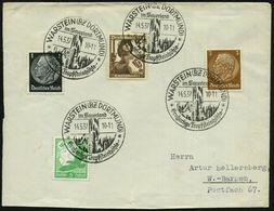 WARSTEIN (BZ DORTMUND)/ ..Großartige Tropfsteinhöhle 1937 (14.5.) Dekorativer HWSt = Tropfsteinhöhle, 4x Klar Auf Fern-B - Géologie