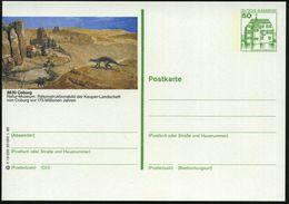 8630 Coburg 1980 50 Pf. BiP Burgen, Grün: Natur-Museum: Keuper-Landschaft..vor 175 Mio. Jahren = Saurier , Ungebr. - PAL - Géologie