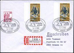 4600 DORTMUND 1/ Naturkunde-/ Museum/ Urpferdchen/ Aus Messel.. 1980 (24.5.) SSt = Urpferd 3x Auf 2x 80 Pf. Fossile Fled - Géologie