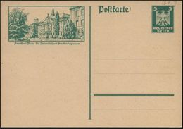 Frankfurt (Main) 1926 (13.3.) 5 Pf. BiP Adler Grün: Die Universität Mit Senckenbergianum = Paläontolog. U. Naturkunde-Mu - Geologie