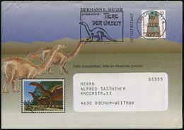 7073 LORCH,WÜRTT 1/ 303 #bzw.# 302/ GEBÜHR BEZAHLT/ HERM.E.SIEGER/ Präsentiert: TIERE/ DER UR-ZEIT 1992/93 2 Verschied.  - Geologie