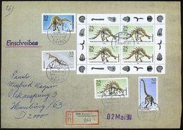 D.D.R. 1990 (19.4.) Naturkunde-Museum Berlin, 10 Pf. Bis 50 Pf. Kurzsatz + 25 Pf. Kleinbogen (4 Stücks) Sauber Gest. + R - Geologie