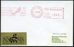 NIEDERLANDE 1978 (6.12.) AFS: LEIDEN/PB.3622/REIJKMUSEUM VAN/ GEOLOGIE EN/ MINERALOGIE../100 JAAR = Mammut-Kopf (m. Stoß - Geologie