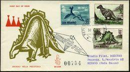 SAN MARINO 1965 (30.6.) Prähistor. Tiere, Kompl. Satz , Alle Mit R-Paginier-Nr., 3 Inl.-R-FDC-SU.  (Mi.833/41) - PALÄONT - Geologie