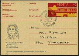 SCHWEIZ 1977 (Jan.) SSt: 8301 GLATTZENTRUM B WALLISELLEN/JOH.J.SCHEUCHZER.. (Brustbild) = Arzt, Naturforscher, Glaziolog - Géologie