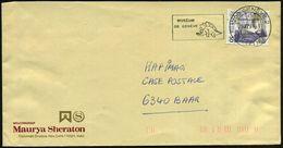 SCHWEIZ 1988 (29.12.) MWSt: 1200 GENEVE 2/MUSEUM/DE GENEVE = Stegosaurus , Klar Gest. Bedarfs-Bf. - PALÄONTOLOGIE / SAUR - Géologie