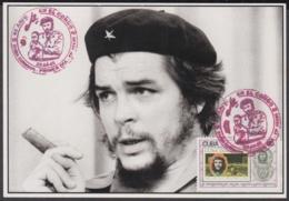 TMA-180 CUBA 2005 SPECIAL CANCEL MAXIM CARD ERNESTO CHE GUEVARA. 40 ANIV GUERRILLA EN EL CONGO. - Tarjetas – Máxima