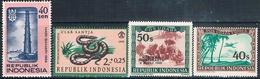 Indonesia 1948 / 66  -  Michel  40 + 81 + 541 + 558  ( Nuevos )  ( ** ) - Indonesia