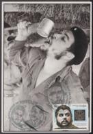 TMA-184 CUBA 2005 SPECIAL CANCEL MAXIM CARD ERNESTO CHE GUEVARA. ANIV NACIMIENTO DEL CHE. - Tarjetas – Máxima