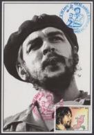 TMA-187 CUBA 2005 SPECIAL CANCEL MAXIM CARD ERNESTO CHE GUEVARA. 40 ANIV GUERRILLA EN EL CONGO. - Tarjetas – Máxima