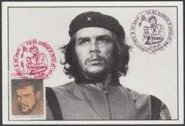 TMA-189 CUBA 2005 SPECIAL CANCEL MAXIM CARD KORDA ERNESTO CHE GUEVARA. 40 ANIV GUERRILLA EN EL CONGO. - Tarjetas – Máxima
