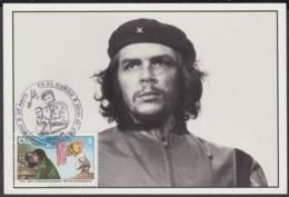 TMA-192 CUBA 2005 SPECIAL CANCEL MAXIM CARD KORDA ERNESTO CHE GUEVARA. 40 ANIV GUERRILLA EN EL CONGO. - Tarjetas – Máxima