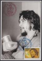TMA-193 CUBA 2005 SPECIAL CANCEL MAXIM CARD ERNESTO CHE GUEVARA. 40 ANIV GUERRILLA EN EL CONGO. - Tarjetas – Máxima