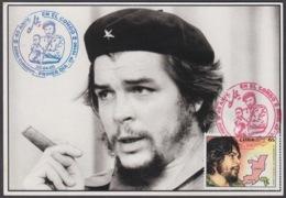 TMA-199 CUBA 2005 SPECIAL CANCEL MAXIM CARD ERNESTO CHE GUEVARA. 40 ANIV GUERRILLA EN EL CONGO. - Tarjetas – Máxima