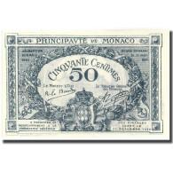 Billet, Monaco, 50 Centimes, 1920, 1920-03-20, KM:3a, NEUF - Monaco