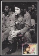 TMA-206 CUBA 2005 SPECIAL CANCEL MAXIM CARD ERNESTO CHE GUEVARA. 40 ANIV GUERRILLA EN EL CONGO. - Tarjetas – Máxima