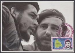 TMA-215 CUBA 2005 SPECIAL CANCEL MAXIM CARD ERNESTO CHE GUEVARA, FIDEL CASTRO. - Tarjetas – Máxima