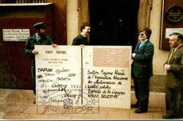 DOUBLE RECORD DU MONDE 8 FEVRIER 1988 DE LA PLUS GRANDE CARTE POSTALE AYANT VOYAGEE - Cartes Postales