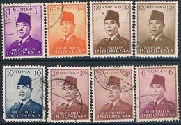 Indonesia 1949 / 63  -  Michel  82 + 87 + 110 / 13  ( Usados ) - Indonesia