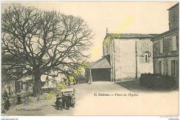 17.  CHERAC .   Place De L'église .  CPA Animée . - France