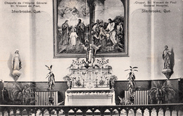 Sherbrooke Québec - Chapelle Hôpital Saint-Vincent-de-Paul - Chapel - Written 1912 - 2 Scans - Sherbrooke