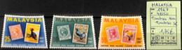D - [825044]TB//**/Mnh-Malaisie 1967 - N° 48/50, Série Complète, Timbres Sur Timbres, Oiseaux, Animaux - Malaysia (1964-...)