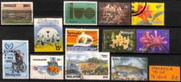 D - [825053]TB//O/Used-Malaisie  - Tb Lot Obl/Used, Animaux, Poissons, Fleurs, Sports - Malaysia (1964-...)