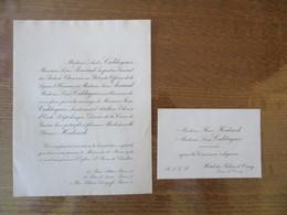 PARIS LE 20 MARS 1921 MADEMOISELLE YVONNE HEIDSIECK AVEC MONSIEUR JEAN CALDAGUES LIEUTENANT D'ARTILLERIE - Wedding