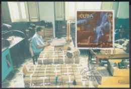 TMA-252 CUBA 2002 MAXIM CARD FESTIVAL DEL HABANO, TOBACCO FACTORY. - Tarjetas – Máxima