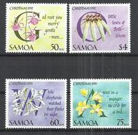 SAMOA 1992 - CHRISTMAS CAROLS AND ORCHIDS - CPL. SET - MNH MINT NEUF NUEVO - Samoa