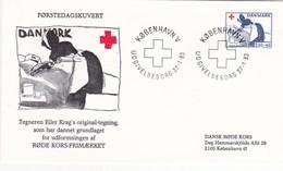 Denmark, FDC 27-1-1983, Red Cross, Stamp, Nurse - FDC
