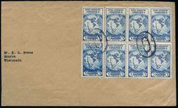 """U.S.A. 1933 (9.12.) 3 C. """"II. BYRD-Antarktis-Expedition"""" , Reine MeF: 8 Stück ,2x Stummer OvalSt (= Washington DC) Inl.- - Antarctic Expeditions"""