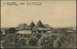 BELGISCH KONGO 1914 (3.3.) 10 C. BiP Palme, Braun: Kabinda, Corps De Garde Et La Prison (= Eingeborenen-Gefängnis) Selte - Polizei - Gendarmerie