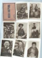 """Un Lot De 8 Cartes  Mignonnettes """" Vieux Bretons """"   - Bpho17 - Reproductions"""